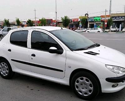 پژو206 تیپ2 مدل 96 سفید